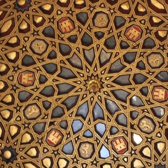 Detail from the cupola in the Hall of Ambassadors, Alcazar, Sevilla, Spain