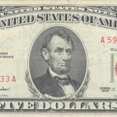 1963 five-dollar bill