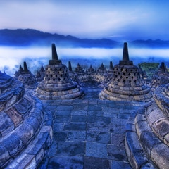 The Rolling Buddhist Morning Mist