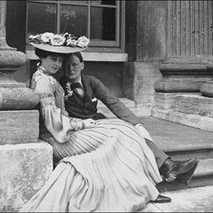 Churchill and Vanderbilt at Blenheim (1902)