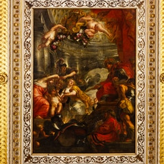 Union of the Crowns of England and Scotland by Rubens (Banquetin